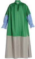 Vika Gazinskaya Colour-block cotton-poplin dress