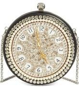 Alexander McQueen Embellished Clock Shoulder Bag