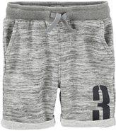 Osh Kosh Boys 4-12 Heathered French Terry Roll Cuff Shorts