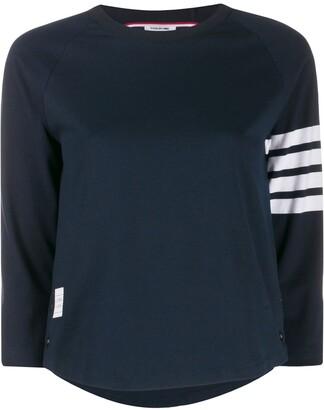 Thom Browne stripe detail T-shirt