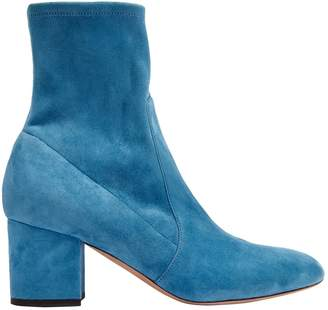 Valentino \N Blue Suede Ankle boots