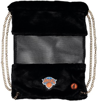 New York Knicks Mesh Gold Chain Drawstring Bag