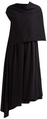 Lemaire Plummy Cotton Jersey Scarf Dress - Womens - Black