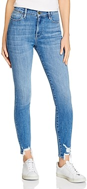 Frame Le High Skinny Chewed Hem Jeans in Sonoma Chew - 100% Exclusive