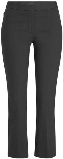 Theory Cropped Kick Flare Pants with Cotton