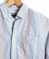 Todd Snyder Slim Fit Awning Seersucker Stripe Button Down Shirt