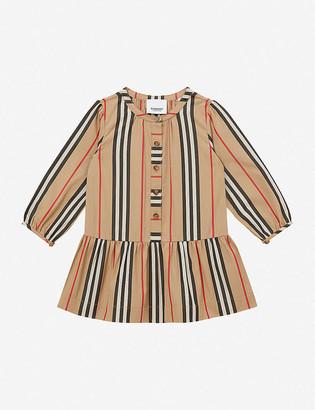 Burberry Ella Icon stripe-print cotton dress 6-24 months