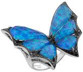 Stephen Webster Opalescent Quartz Bat-Moth Ring