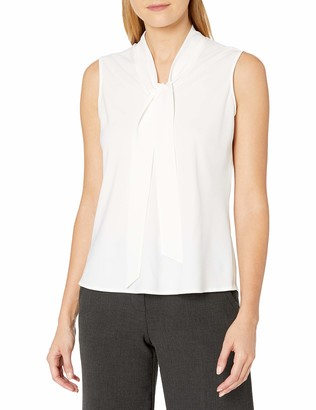 Kasper Women's Tie Neck Blouse