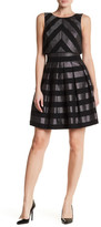 Karen Millen Metallic Stripe Detail Dress