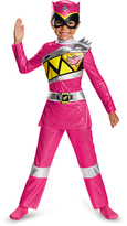 Disguise Pink Power Ranger Dino Charge Deluxe Costume - Toddler & Kids