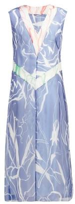 Marina Moscone - Abstract-print Silk-blend Dress - Multi