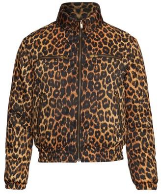 Saint Laurent Leopard-Print Bomber Jacket