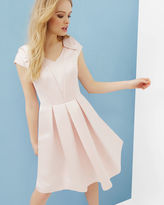 Ted Baker Bow detail pleated dress