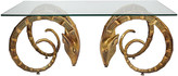 One Kings Lane Vintage Gold Ibex Midcentury Coffee Table - Ivy and Vine