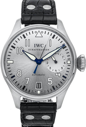 IWC Silver Stainless Steel Big Pilot Father IW5009-06 Men's Wristwatch 46 MM