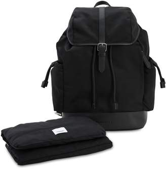 Burberry LEATHER & NYLON BACKPACK W/CHANGING PAD