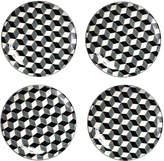 Pols Potten Plates - Set of 4 - 3D - Black