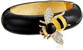 Kenneth Jay Lane Gold, Rhinestone, Black, and Yellow Enamel Bee Bracelet
