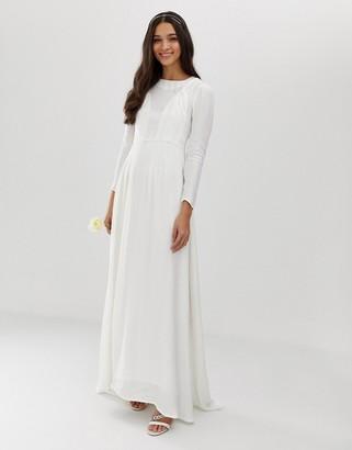 Asos EDITION plaited wedding dress