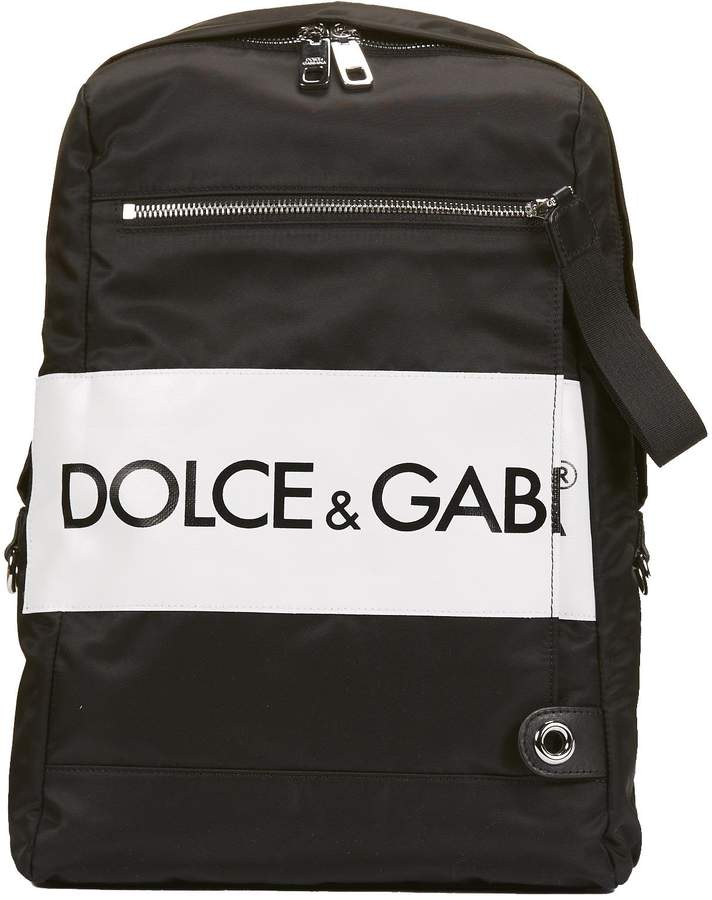 Dolce & Gabbana Logo Band Print Backpack