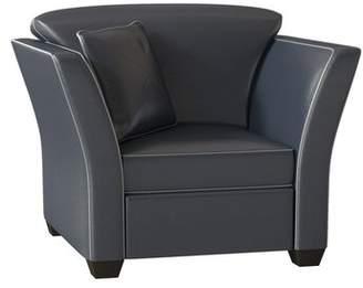 Omnia Leather Manhattan Leather Armchair Omnia Leather Body Fabric: Empire Butternut, Seat Cushion Fill: Standard Cushion Fill, Back Cushion Fill: Standard Cushion