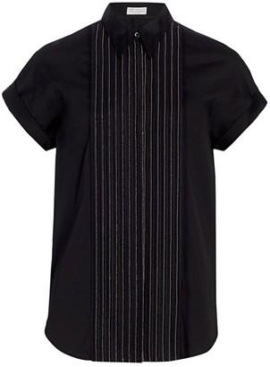 Brunello Cucinelli Monili Bib Tuxedo Shirt