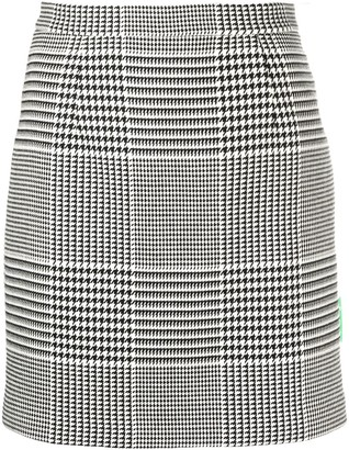 Off-White Prince Of Wales Short Skirt