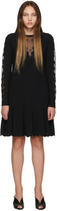 Alexander McQueen Black Knit Ottoman Mini Dress