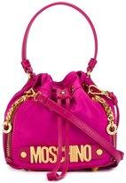 Moschino letters bucket shoulder bag