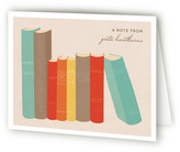 Minted Book Lover Folded Personal Stationery