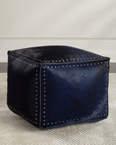 Interlude Home Bella Pouf Denim Ottoman