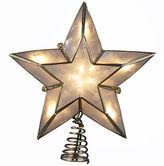 Kurt Adler 10-Light Ivory and Gold-Tone Capiz 5-Point Star Tree Topper