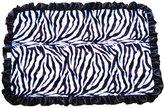 Patricia Ann Designs Stroller Blanket with Black Ruffles, Zebra with Hot Pink Swirl