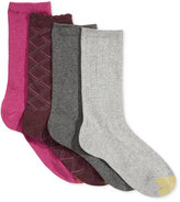 Gold Toe Women's 4-Pk. Diagonal Fashion Socks