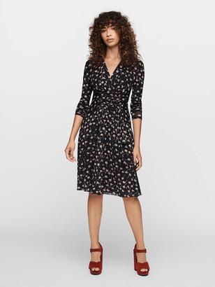 Diane von Furstenberg Brenda Mesh Faux-Wrap Dress