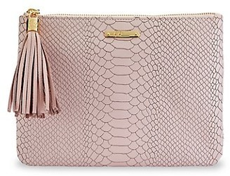GiGi New York All-In-One Python-Embossed Leather Clutch