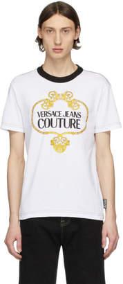 Versace White Barocco Chain T-Shirt