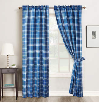 "Universal Home Fashions Plaid Window Panel 4 Piece Rod Pocket, 42"" x 84"""