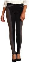 Hale Bob Stretch Ponte Colorblock Legging (Black) - Apparel