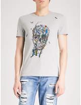 Alexander Mcqueen Garden Skull Cotton-jersey T-shirt