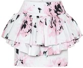 Alexandre Vauthier Cotton floral-printed mini skirt