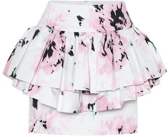 Alexandre Vauthier Cotton floral-printed mini skirt