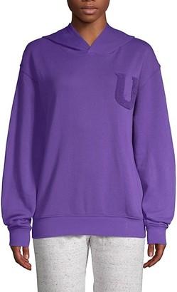 UGG Fuzzy Logo Hooded Sweatshirt
