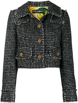 Dolce & Gabbana Spencer houndstooth blazer