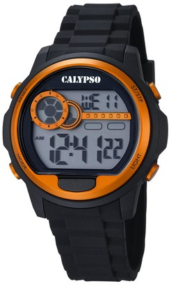 Calypso Unisex Digital Watch with LCD Dial Digital Display and Black Plastic Strap K5667/4