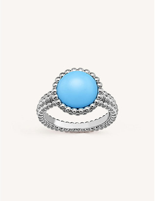 Van Cleef & Arpels Perlee Couleurs white-gold and turquoise ring
