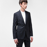 Paul Smith Men's Tailored-Fit Navy 'Botanical' Embroidery Wool Blazer
