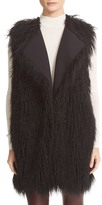 Theory Nyma V Cody Shaggy Faux Fur Front Long Vest