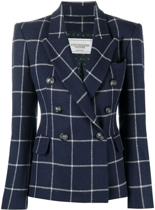 Forte Dei Marmi Couture Checked Double-Breasted Blazer